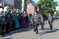 Schwarze Husaren bei der Parade